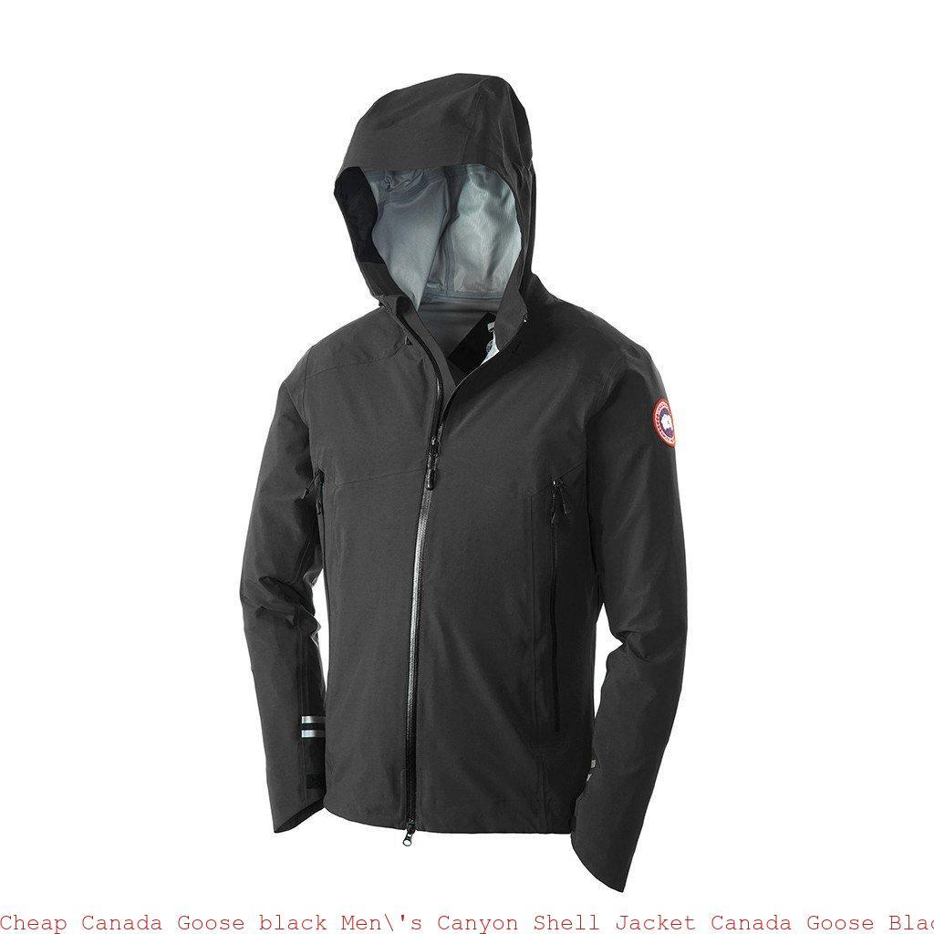 200032d94f0 Cheap Canada Goose black Men  s Canyon Shell Jacket Canada Goose ...