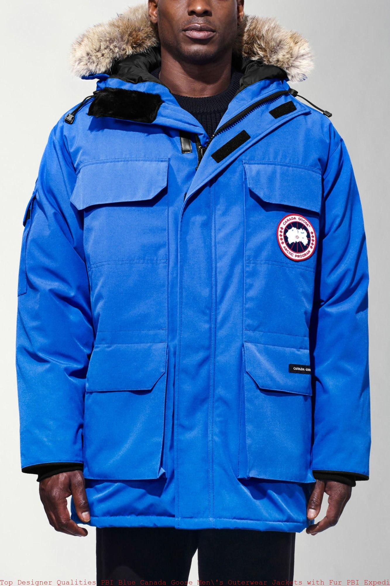 Top Designer Qualities PBI Blue Canada Goose Men's Outerwear Jackets with Fur PBI Expedition Parka Canada Goose Trillium Parka Uk 4565MPB
